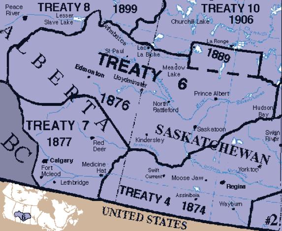 Treaty 6 Map University of Alberta Faculty of Law Blog: Understanding Treaty 6 Treaty 6 Map