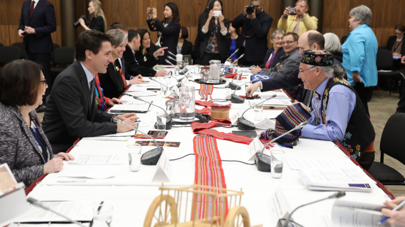Feb 13 photo - Credit_ Prime Minister Justin Trudeau and President Clément Chartier of the Métis National Council at the signing of the Canada-Métis Nation Accord in Ottawa on April 13  2017. Image retrieved from _pm.gc.ca_en_news_news-r